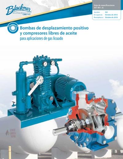 Bombas de Desplazamiento positivo y compresor libres de aceite para Gas LP Blackmer