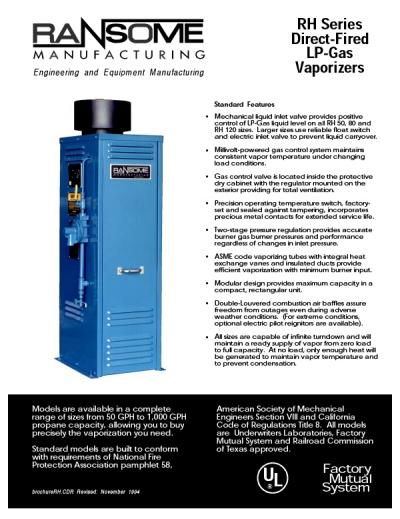 Catalogo Vaporizadores Gas LP Serie RHRansome