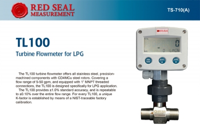 Medidor de Flujo de Turbina TL 100 Red Seal