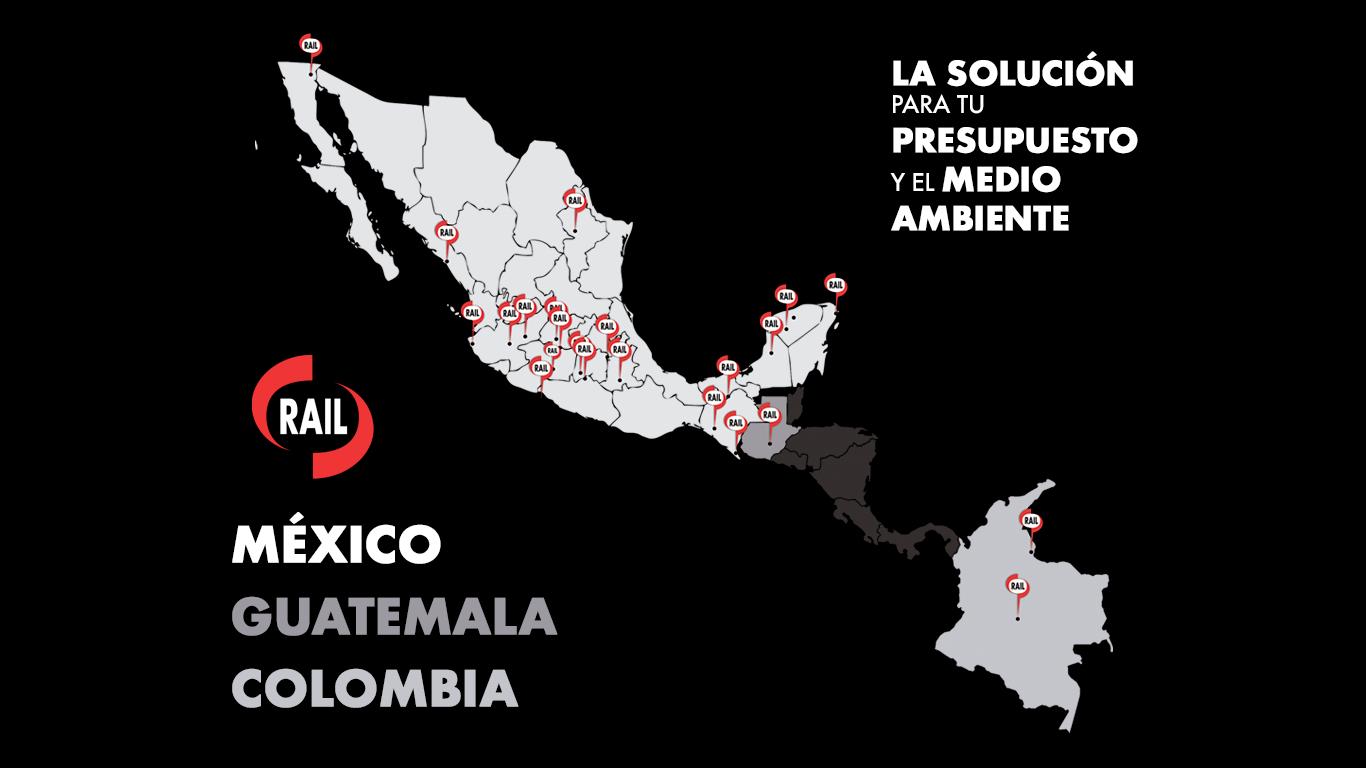 Rail Mexico Colombia Guatemala